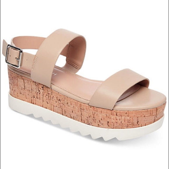 77b817bd431  Madden Girl  Nude Sugar Flatform Sandals